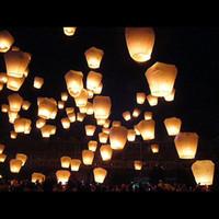 Sky lanterne désireux lumière Lanternes Kongming lanternes volantes Lumière souhaits chinoise Flame10pcs / lot