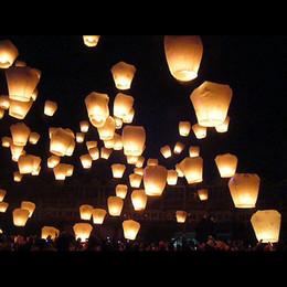 Wholesale Sky lantern Wishing Lanterns KongMing Lantern Flying Light Chinese Wish Light Flame10pcs