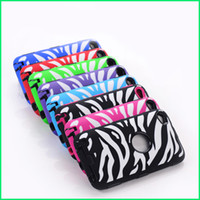 Wholesale Zebra hard soft protector Defender Case Skin Cover for Apple iPod Touch ipod