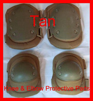 Wholesale Tactical Military Outdoor Sport Knee amp Elbow Protective Pads Tan Airsoft