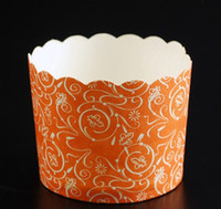 Wholesale Special promotions Medium Cupcakes round muffin paper cake cup cake case with Red stripe