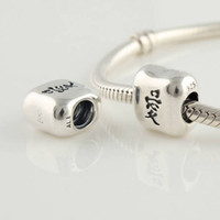 Silver Loose Beads 925 Silver silver bead jewelry Chinese love beads wholesale free shipping 2pcs lot made of 925 sterling silver loose beads with threaded hot sale LW092