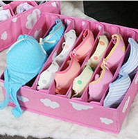 Wholesale Pink Cells Nonwoven Fabrics Underwear Bras Socks Storage Organizer Box