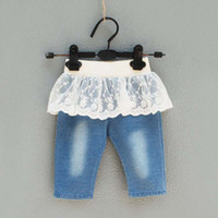 Christmas Girl 18-24 Months Jean Shorts Infant Wear Denim Jeans Summer Shorts Blue Jeans Children Casual Pants Baby Jeans Girls Cute Lace Skirt Pants Toddler Clothing