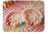 Wholesale Korean Children s Girls Pink Pearl Bracelet Jewelry Little Princess Kids Jewelry Faux Pearl Candies Jewellery Bracelet