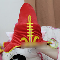 Wholesale LOL hat League of Legends LOL Faery Witch Lulu Cosplay Hat plush cap Cosplay Hat