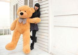 "Teddy Bear Stuffed Plush Soft Bear Plush Toys Soft Toys 160CM White & Brown Huge 63"" Fre Shipping"