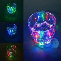 Wholesale LED Flash Light Volka Scotch Whisky Cocktail Liquor Wine Party Drinks Cup Glass