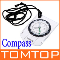 Wholesale Portable Mini Baseplate Compass Map Scale Ruler for Outdoor Camping Hiking Cycling Scouts H8739