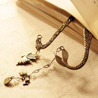 Wholesale Brand New Silver Tone Bookmarks Carved Hooked Metal Bookmark In Stock Mermaid Bookmark