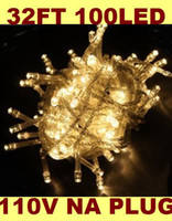 Wholesale Outdoor Indoor V Warm White LED String Lights Holiday Christmas Xmas Wedding Decorations Party New Year s Lighting