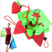 Wholesale straw berry fruit shopping bag many colors mixed Eco friendly foldable folding handle Bag