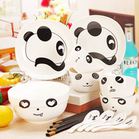 Wholesale Tableware bowl bone china ceramic dinnerware set dishes cartoon doll bowl
