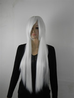 African-American Wigs straight Daily wear Free Shipping Heat Resistant new long white cosplay party wigs