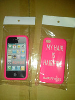 Wholesale Cheapest Iphone Custom Case - 500pcs cheap silicone covers for cell phone 4G & 4S soft silicone cases EG-IPC411 with custom text & logo
