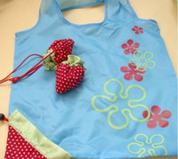 Wholesale Strawberry Folding Shopping Bag Reusable Portable Bags