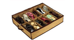 Free shipping fabric Closet shoes Organizer Under Bed Storage Holder Box Container Case Storer For 12 Shoes