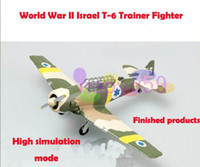 Wholesale free ship military Israel T trainer fighter aircraft model finished world war II piston propeller fighter model