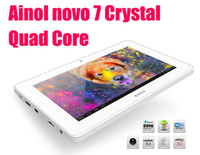 Wholesale Ainol novo Crystal Tablet PC Android Jelly bean Quad core GB GB quot Capacitive Screen Black white HDMI Original
