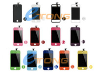 Wholesale for iPhone S Color Complete Screen with LCD Display amp Touch Digitizer Full Assembly with Glass Back Cover Home Button CDMA GSM AF696