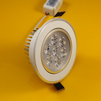 21W american aluminum products - Dimmable European and American world champion hot product Dimmable x3W LED ceiling light white shell DHL