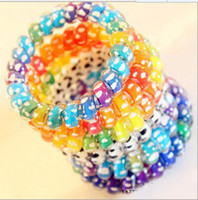 Wholesale colorful lovely telephone line fashion hair band hairband hair headband hair ring