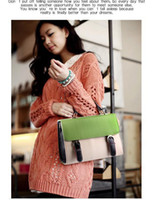 Wholesale alibaba korean style designer fashion envelope bag for women leather briefcase handba
