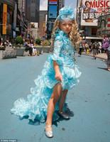 barrett bows - Isabella Barrett High Low Girl s Pageant Dress Organza Long Sleeve Beaded Ruffles Floor Length