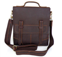 leather bag factory - Men s Style Briefcase Hand bag Shoulder Messenger Bag Vintage Tan Leather Factory Price Ca