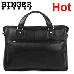 Wholesale man geniune lether bag fashion handbag best leather briefcase