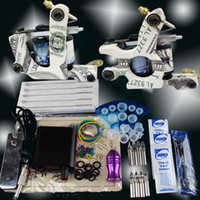Beginner Kit cheap tattoo kits - Cheap Beginner Gun Kit Pro tattoo Machine Gun Power Supply Foot Pedal Needles