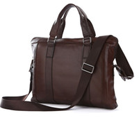 Wholesale Vintage Leather Men s Use Briefcase Messenger Laptop Bag Hot Sell C
