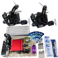 2 Guns cheap tattoo kits - Cheap Beginner Gun Kit Pro tattoo Machine Gun Power Supply Foot Pedal Needles D035 D036