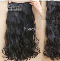 Wholesale Natural Black B Hair Extension Clips On sexy stylish Women s Long Curl Curly Wavy WS002