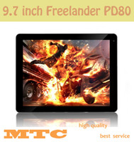Wholesale 3pcs Tablet Freelander PD80 Quad core tablet pc inch IPS Retina Screen Allwinner A31 GB Ram GB HDMI Dual Camera