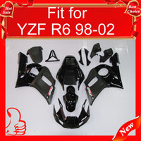 Wholesale Matt black ABS plastic Fairing kits YZF600 R6 body parts For YAMAHA YZF R6 YZF600 R6 YZF R6