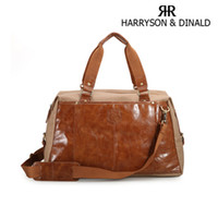Wholesale New Unisex Genuine Leather Canvas Casual Laptop Briefcases Fashion Travel Tote Duffle Bag