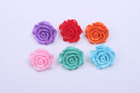 Wholesale 2013 Newest fashion mm colorful resin flower beads with hole for chunky necklace