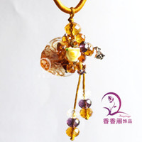 Wholesale Murano Glass Perfume Oblate Necklace With Flower with cord Perfume Bottle pendant Perfume Bottle pendant essential oil bottle pendants