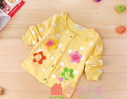 4PCS!Hot Sweet flower girls long-sleeved coat contracted girls coat children clothing baby clothes