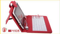Wholesale DHL inch USB keyboard leather case with stand for Android Tablet Allwinner A13 Q88 WM8850 Colors