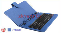Wholesale DHL inch USB keyboard leather case with stand for Android Tablet Allwinner A13 Q88 keyboard cases