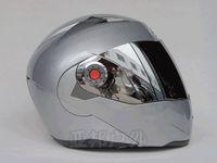 Wholesale undrape face JIEKAI helmet Silver Lens amp Silver Full Face Helmets Motorcycle motorbike motocross MOTO Racing