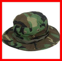 Visor military hats - New Fishing Hunting Army Marine Bucket Jungle Cotton Military Boonie Hat Cap Camo Outdoor Products