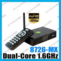 Wholesale O44 Bluetimes Dual Core Android XBMC WiFi p Media Center Player Mini PC TV Box HTPC AMLogic MX M6