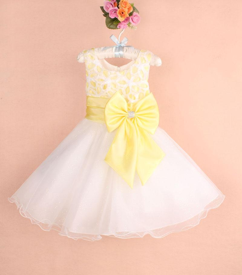 Newest Design Baby Girls Wedding Party Dress Kids Girl Bowknots ...