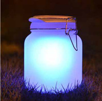Wholesale Waterproof Sun Jar Lamp Ambient Moon Solar Energy Saving powered Light Women friends Gifts Discoloration of moonlight cans t5182