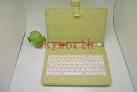 Wholesale 7 Keyboard leather case stand for Android Allwinner A13 Q88 A10 N77 VC882 Epad Tablet MID