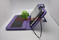 7'' asus keyboard pc - Colorful USB Keyboard leather case stand for Android Allwinner A13 Q88 A10 N77 VC882 Epad Tablet PC