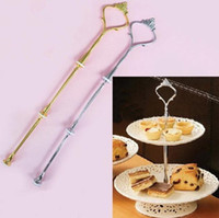Wholesale Wedding Party Tier Cake Plate Stand Center Handle Rods Fitting Tool Hardware MYY4045